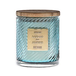 Bamboo & Jasmine 10 oz. Scented Spiral Candle in Green