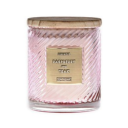 Raspberry & Teak 10 oz. Scented Spiral Candle in Pink
