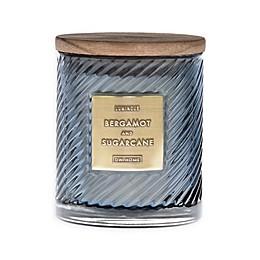 Bergamont & Sugarcane 10 oz. Scented Spiral Candle in Grey