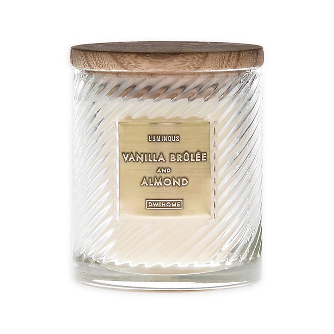 Alternate image 1 for Vanilla Brûlée & Almond 10 Oz. Scented Candle in White