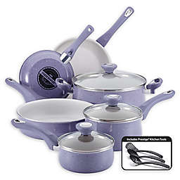 Farberware® New Traditions Speckled Aluminum Nonstick 12-Piece Cookware Set in Lavender/White