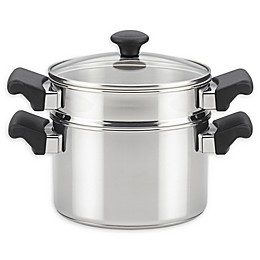 Farberware® Classic Traditions 3 qt. Stainless Steel Covered Sauce Pot and Steamer Insert