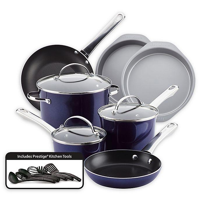Alternate image 1 for Farberware Luminescence™ 16-Piece Aluminum Nonstick Cookware Set