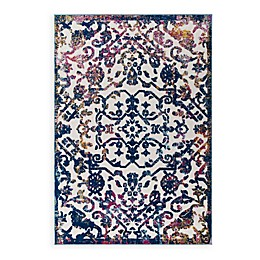 Modway Primrose Floral Lattice Indoor/Outdoor Area Rug