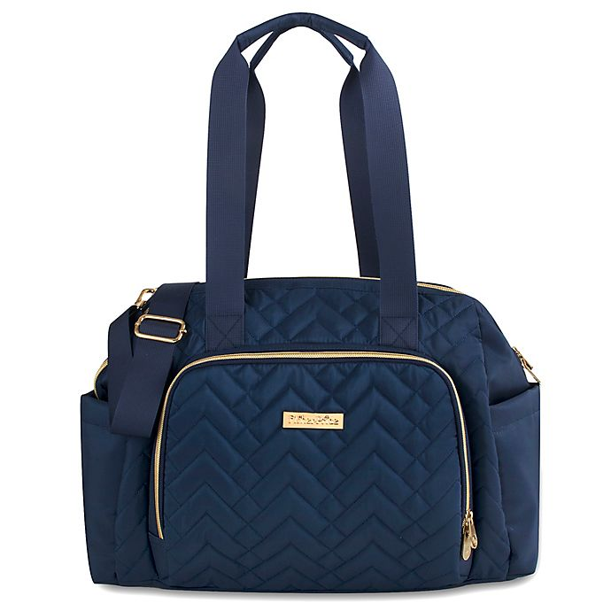 Alternate image 1 for Fisher-Price® Quilted Tote Diaper Bag in Navy