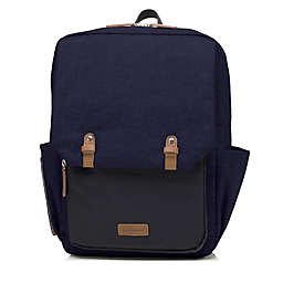 BabyMel™ George Backpack Diaper Bag in Black/Navy