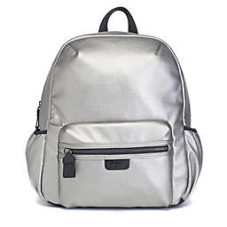 Babymel Luna Faux Leather Diaper Backpack in Pewter