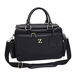 Zellie Woburn Luxury Deluxe Diaper Bag in Black