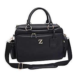 Zellie Woburn Luxury Deluxe Diaper Bag in Black