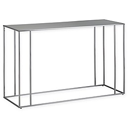SimpliHome™ Sloan Stainless Steel Console Table