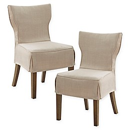 Madison Park Wendell Dining Chairs in Natural (Set of 2)