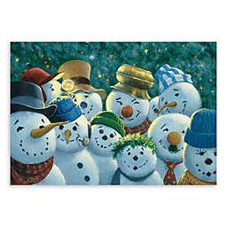 Bungalow Flooring Surfaces Snowman Pattern Kitchen Floormats