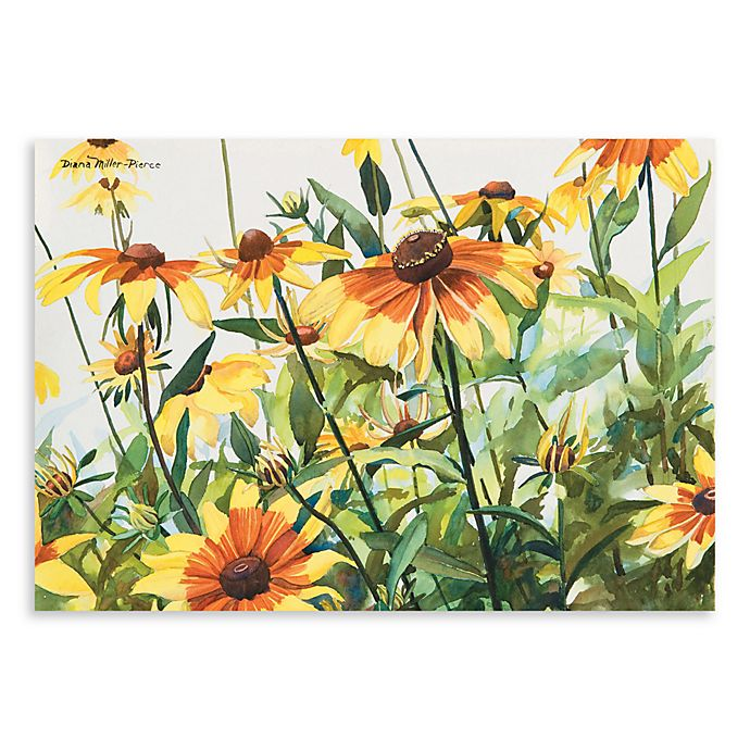 Alternate image 1 for Surfaces Black Eyed Susans 23-Inch x 36-Inch Kitchen Floormat