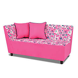 Kangaroo Trading Company Wildflower Tween Chaise in Pink/White