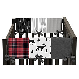Sweet Jojo Designs Rustic Patch Side Crib Rail Guards in Grey/Black (Set of 2)