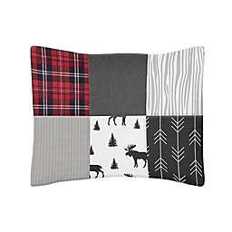 Sweet Jojo Designs Rustic Patch Standard Pillow Sham in Red/Black