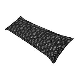 Sweet Jojo Designs® Rustic Patch Arrow Body Pillowcase in Black/White