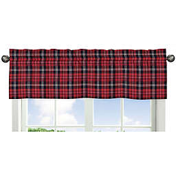 Sweet Jojo Designs® Rustic Patch Plaid Flannel Window Valance in Red/Black