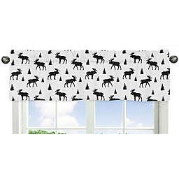 Sweet Jojo Designs Rustic Patch Moose Window Valance in Black/White