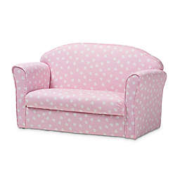 Baxton Studio Trudy Heart Kids Sofa in Pink/White