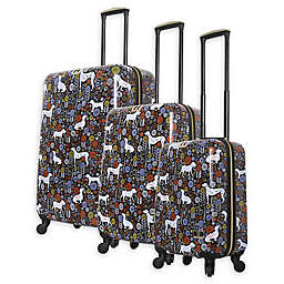 Halina Vicky Yorke Urban Jungle Dogs Hardside Spinner Luggage Collection