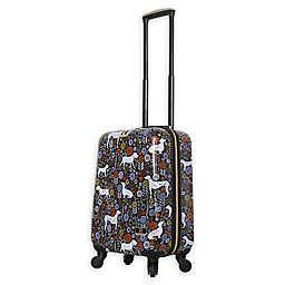 Halina Vicky Yorke Urban Jungle Dogs 20-Inch Hardside Spinner Carry On Luggage
