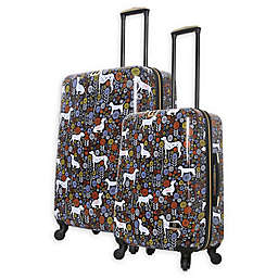 Halina Vicky Yorke Urban Jungle Dogs Hardside Spinner Checked Luggage