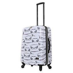 Halina Valerie Valerie Aubergine Hardside Spinner Checked Luggage