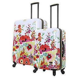 Halina Collier Campbell Secret Garden Hardside Spinner Checked Luggage