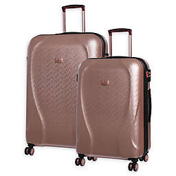 it Girl Sparkle Hardside Spinner Checked Luggage