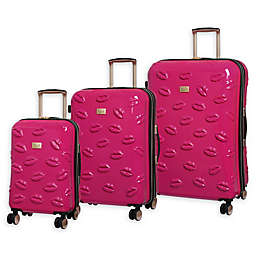 it Girl Pout Smooch 3-Piece Hardside Spinner Luggage Set
