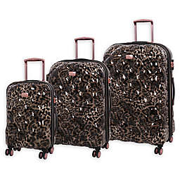 it Girl Opulent 3-Piece Hardside Spinner Luggage Set in Leopard