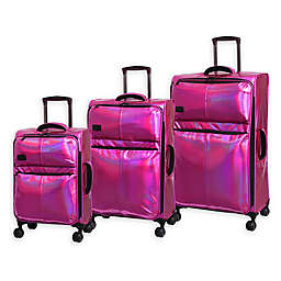 it Girl Spellbound Holographic 3-Piece Softside Spinner Luggage Set