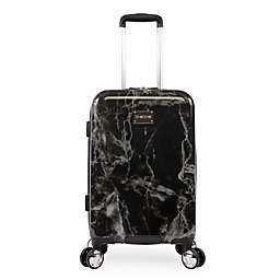 Bebe Reyna 21-Inch Hardside Spinner Carry On Luggage in Black Marble