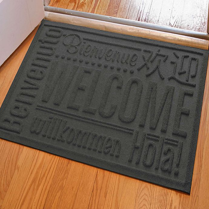 Alternate image 1 for Weather Guard™ 23-Inch x 35-Inch Welcome Door Mat in Charcoal