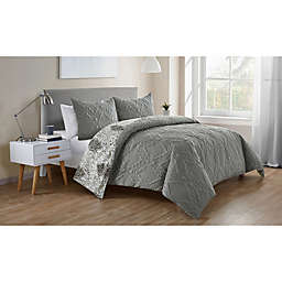 VCNY Home Lauanna Reversible Duvet Cover Set
