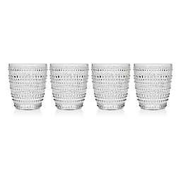 Godinger Lumina Hobnail Double Old Fashioned Glasses (Set of 4)