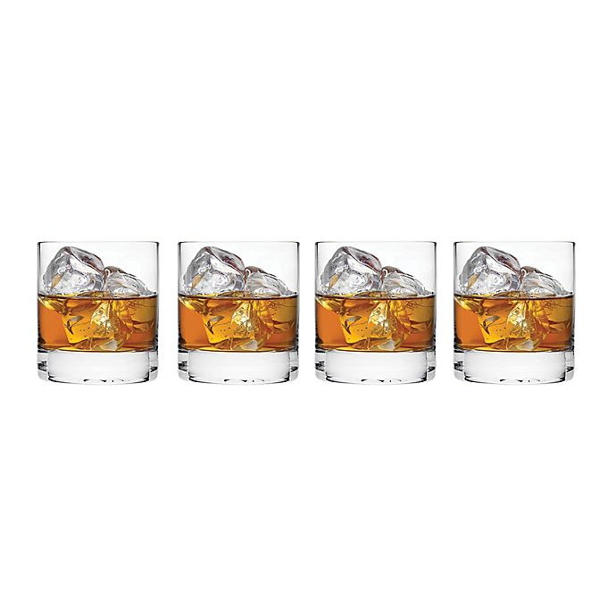 Alternate image 1 for Top Shelf Pure Double Old Fashioned Glasses (Set of 4)