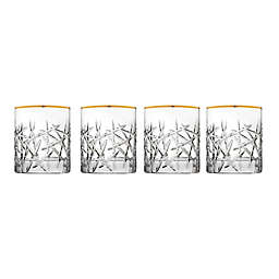 Top Shelf Graffiti Double Old Fashioned Glasses in Gold (Set of 4)