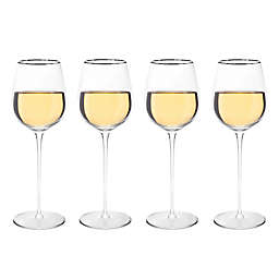 Olivia & Oliver™ Madison Platinum White Wine Glasses (Set of 4)