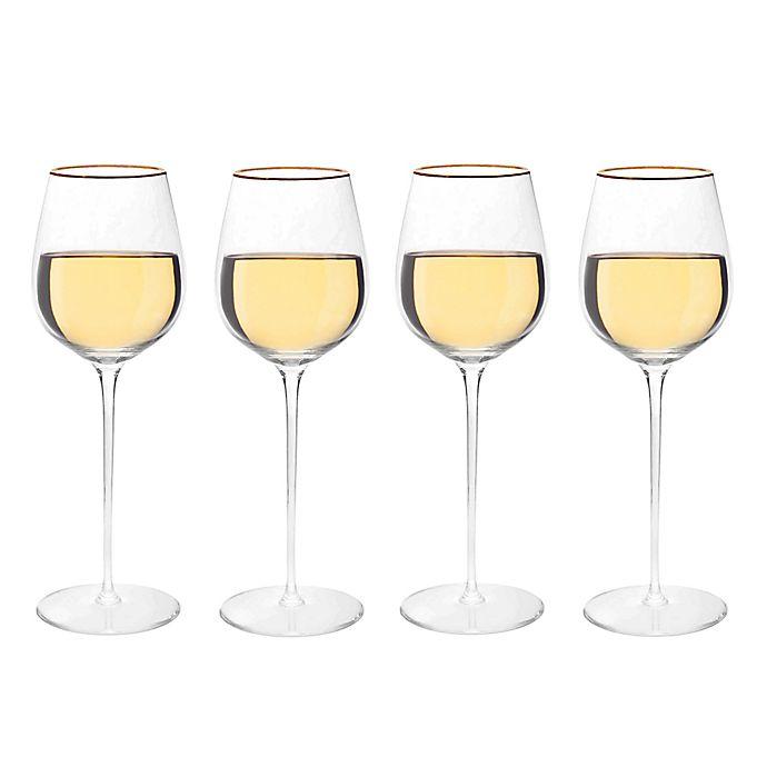 Alternate image 1 for Olivia & Oliver™ Madison Gold White Wine Glasses (Set of 4)