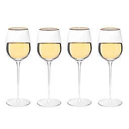 Olivia & Oliver™ Madison Gold White Wine Glasses (Set of 4)