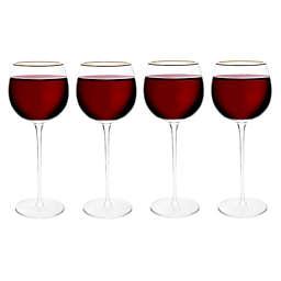 Olivia & Oliver™ Madison Gold Red Wine Glasses (Set of 4)