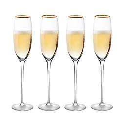 Olivia & Oliver™ Madison Gold Champagne Flutes (Set of 4)