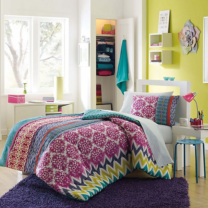 buy riley back to school 8 piece twin twin xl dorm kit in multi from bed bath beyond. Black Bedroom Furniture Sets. Home Design Ideas