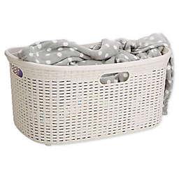 Mind Reader 40-Liter Laundry Basket in Ivory White