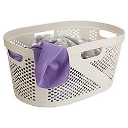 Mind Reader 40-Liter Laundry Storage Basket in Ivory White