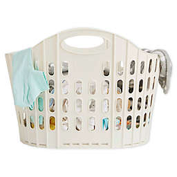 Mind Reader 38-Liter Collapsible Laundry Basket in Ivory White