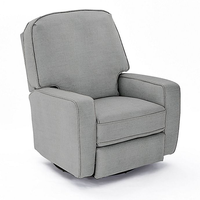 Alternate image 1 for Best Chairs Custom Bilana Swivel Glider Recliner in Blue Fabrics