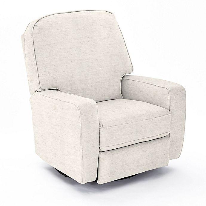 Super Best Chairs Custom Bilana Swivel Glider Recliner In Cream Fabrics Evergreenethics Interior Chair Design Evergreenethicsorg